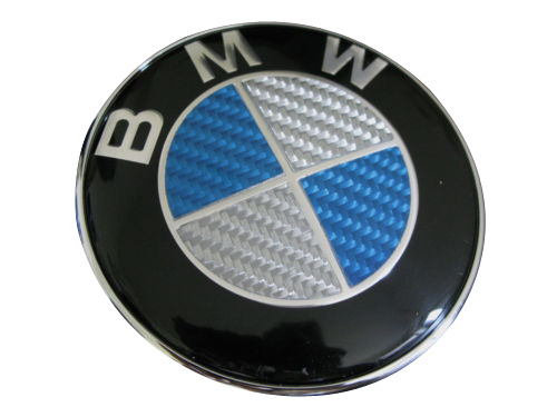 bmw carbon fiber trunk emblem 74mm. Black Bedroom Furniture Sets. Home Design Ideas